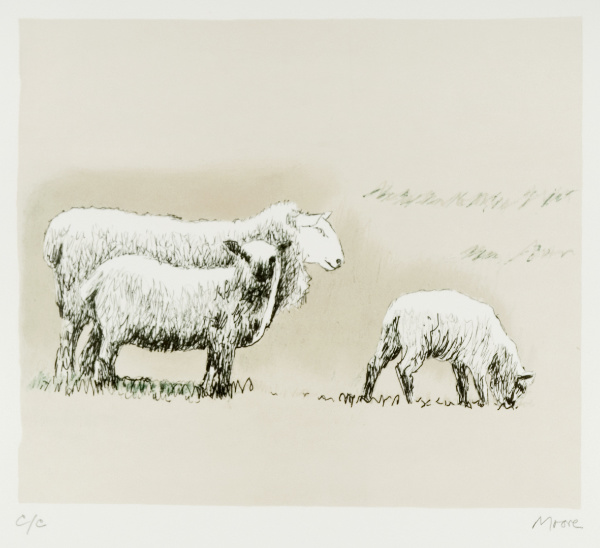Henry Moore, Sheep in Landscape (CGM 558), 1974, Foto: HMF / Michael Phipps