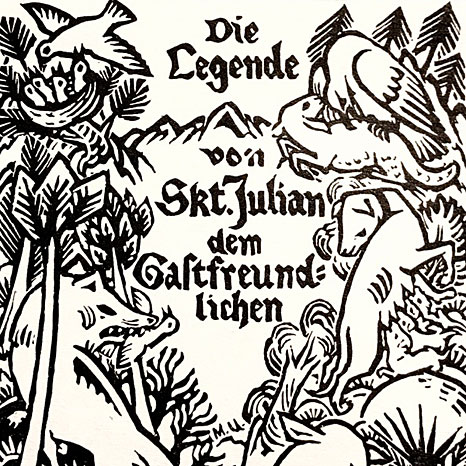 Max Unold: Illustration zu Die Legende von St. Julian